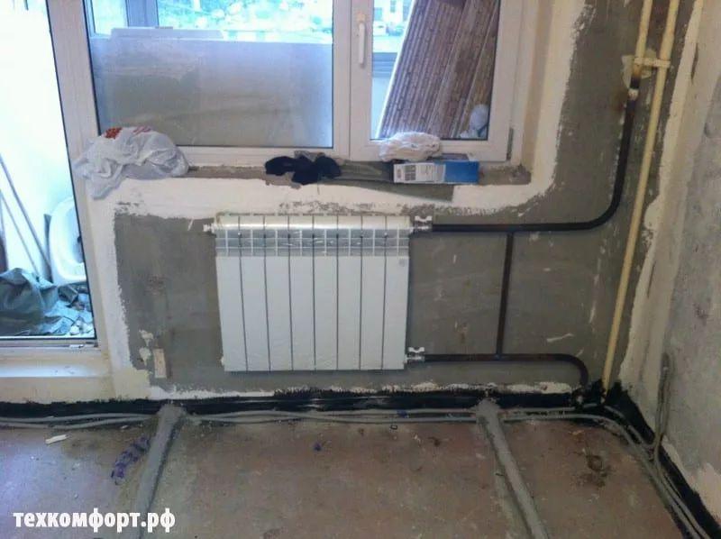 замена конвекторов на биметаллические радиаторы москва-5