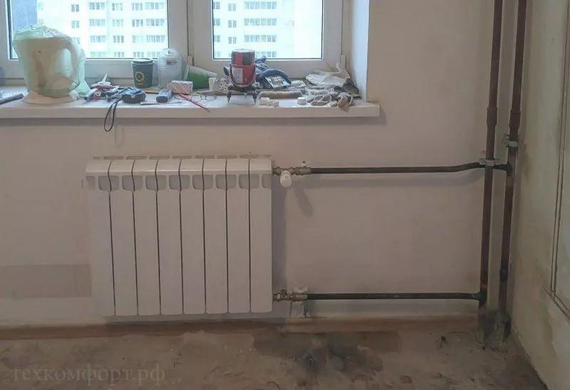 Замена радиаторов отопления на двухтрубной системе_1