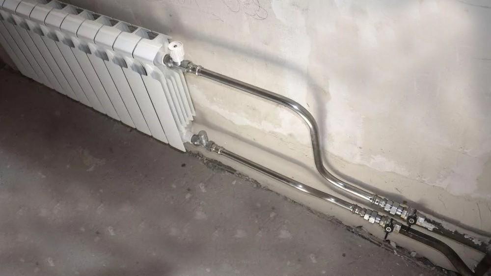 замена радиатора на трубах из нержавеющей стали