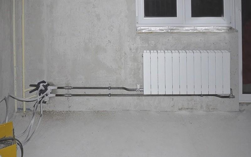 замена радиаторов зимой