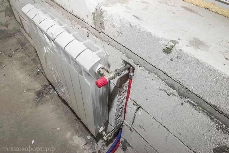 монтаж коллекторного отопления в новостройке-16