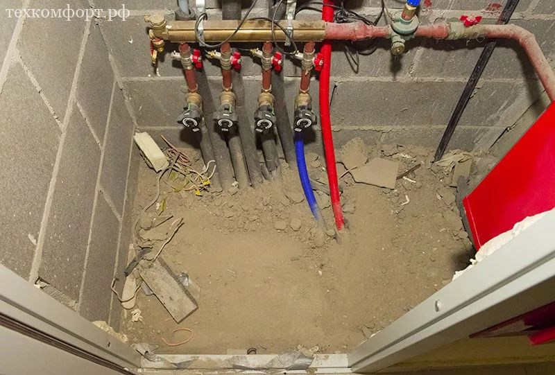 монтаж коллекторного отопления в новостройке-2