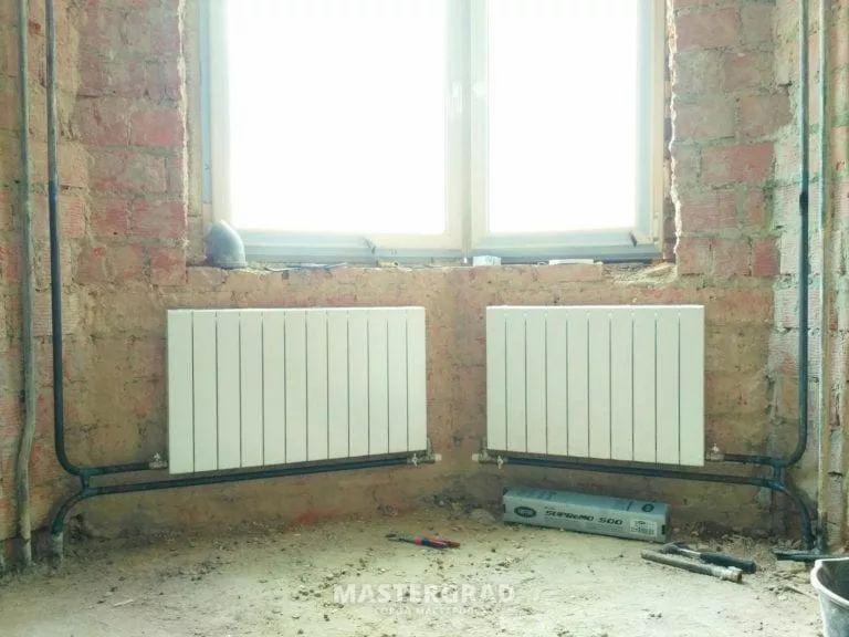схемы подключения биметаллических радиаторов (10)