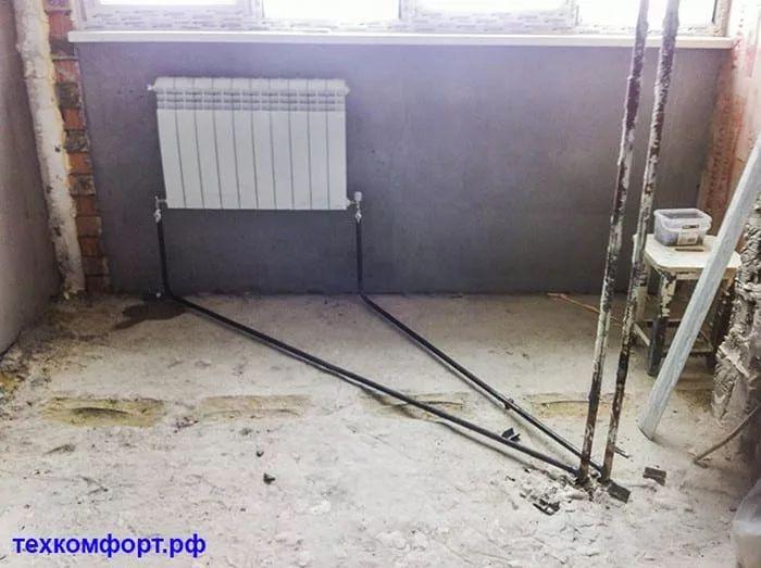 схемы подключения биметаллических радиаторов (100)
