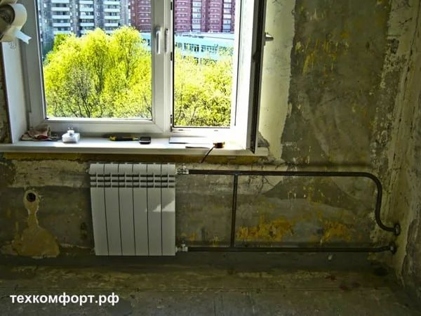 схемы подключения биметаллических радиаторов (103)