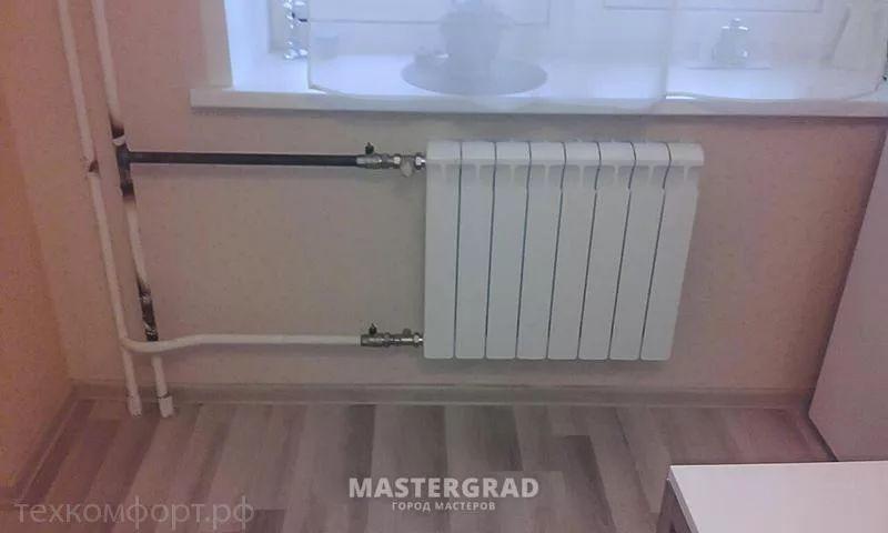 схемы подключения биметаллических радиаторов (15)