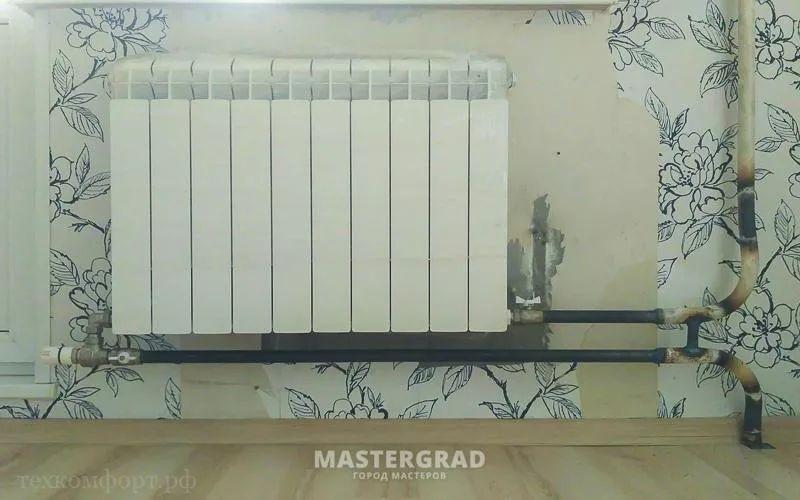 схемы подключения биметаллических радиаторов (6)