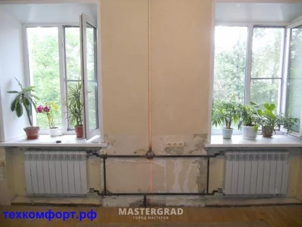 схемы подключения биметаллических радиаторов (63)
