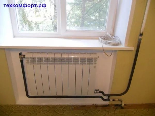 схемы подключения биметаллических радиаторов (72)