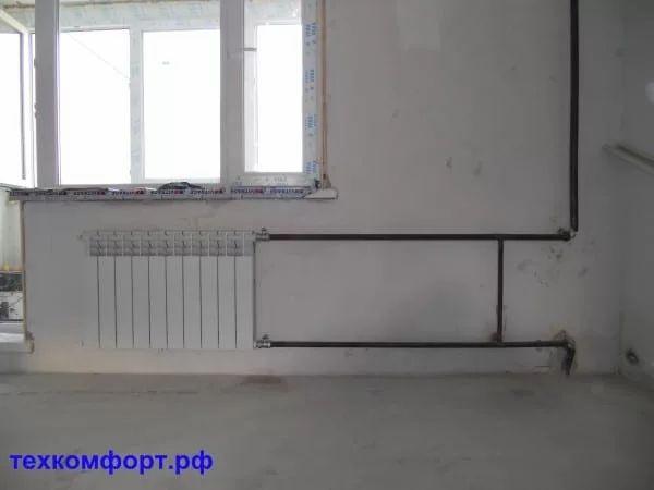 схемы подключения биметаллических радиаторов (90)