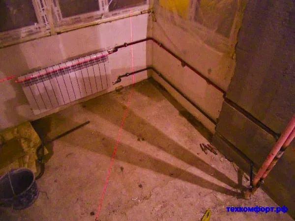 схемы подключения биметаллических радиаторов (93)