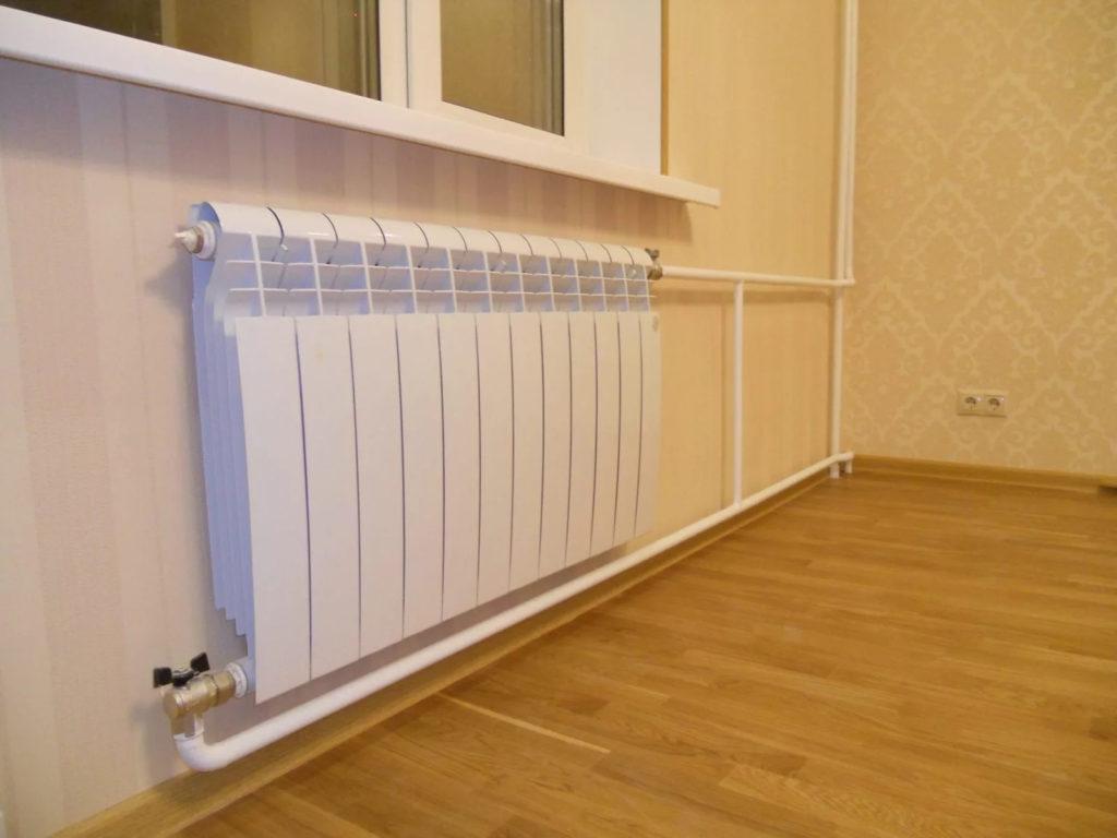 Монтаж радиатора Royal Thermo Солнечногорск внешний вид по окончании ремонта