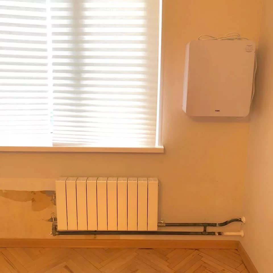 Замена батарей в квартире с отделкой