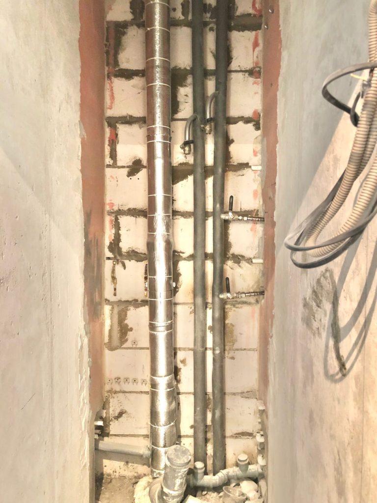 шумоизоляция и теплоизоляция стояков ГВС, ХВС и канализации