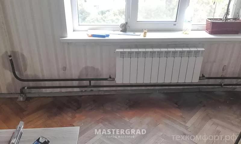 Замена подключения радиатора с полипропилена на сталь